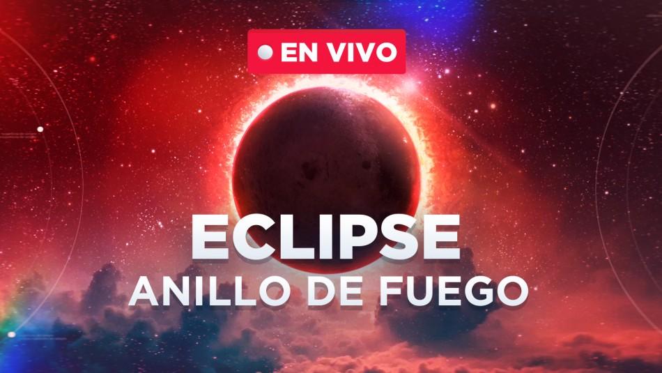 Eclipse anillo de fuego en vivo