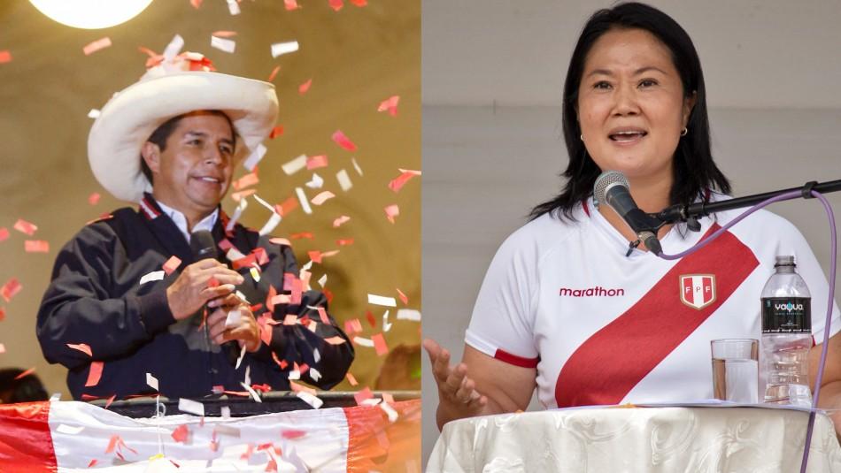 Presidenciales al rojo en Perú: Castillo refuerza su ventaja sobre Fujimori