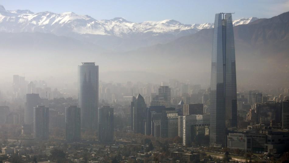 Decretan alerta ambiental para este viernes en la Región Metropolitana