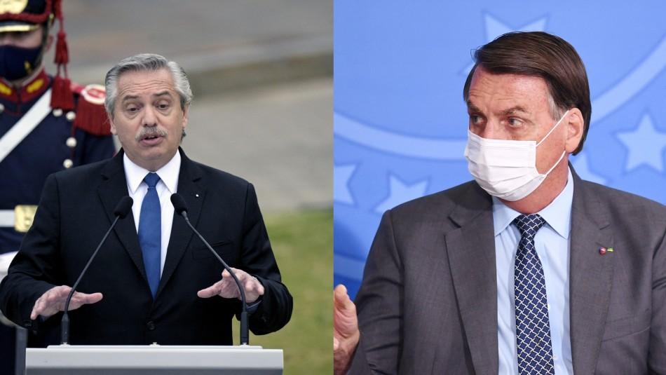 Presidente argentino dice que los brasileños vienen de la selva: así respondió Bolsonaro