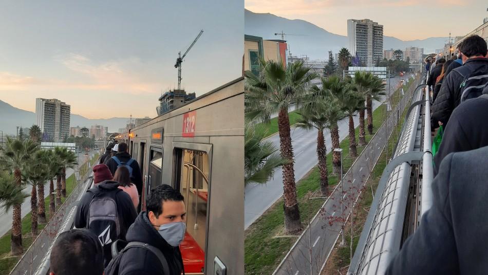 Ocho estaciones de la Línea 5 de Metro sin servicio: pasajeros son evacuados por las vías