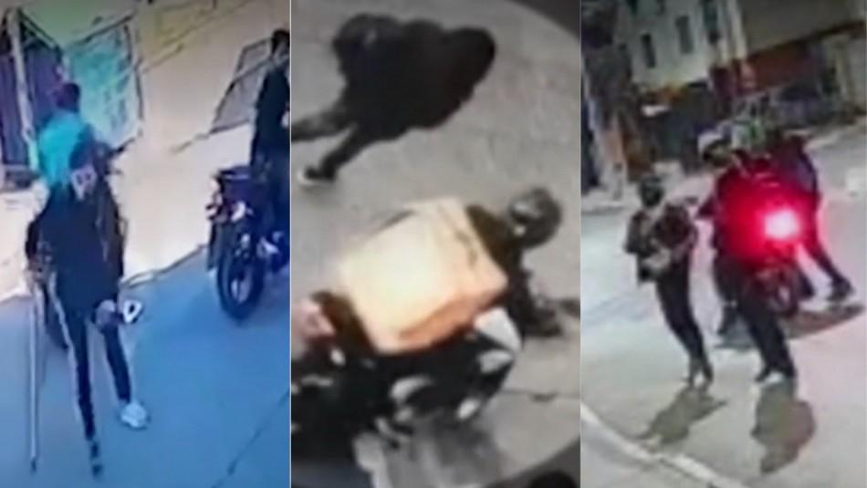 En muletas y disfrazados de repartidores: alerta por reaparición de motochorros