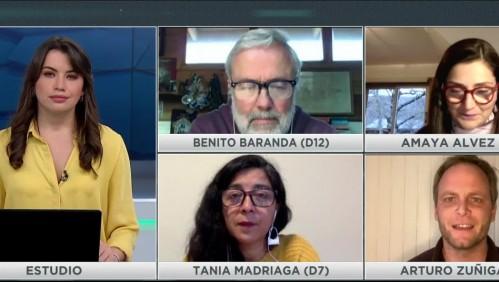 Mesa Constituyente: Benito Baranda, Amaya Alvez, Tania Madriaga y Arturo Zúñiga