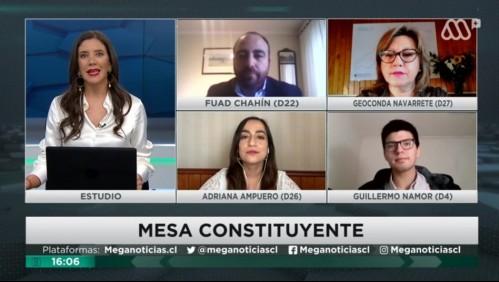 Mesa Constituyente: Fuad Chahín, Geoconda Navarrete, Adriana Ampuero y Guillermo Namor