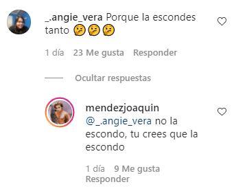 Comentario de la seguidora de Joaquín