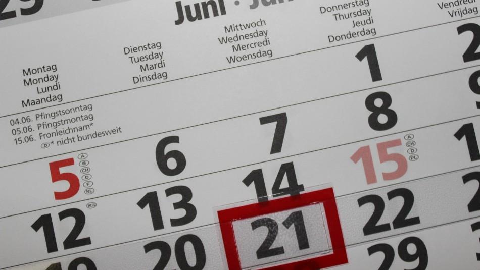 Quedan 12 feriados este 2021: Sólo 7 corresponden a días de la semana