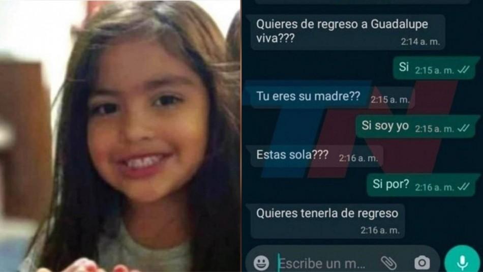Madre recibe misterioso whatsApp sobre desaparecida Guadalupe.