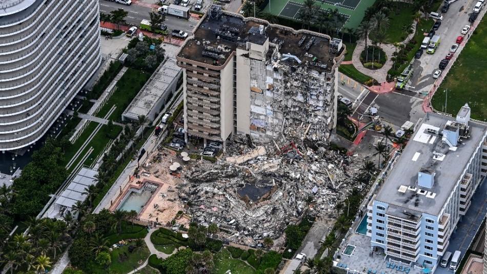 Un chileno se encuentra entre los desaparecidos en derrumbe de edificio en Florida