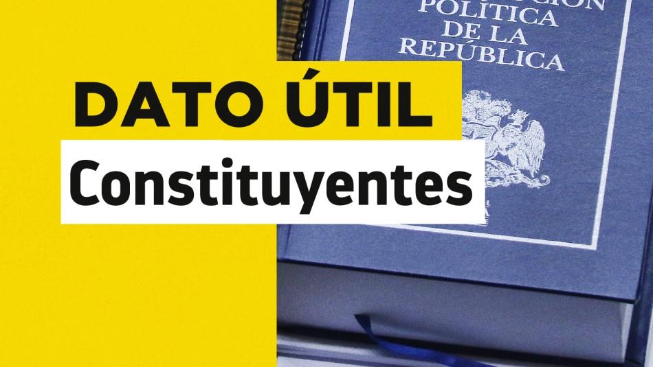 Nueva Constitución: ¿Cuántos constituyentes tiene cada distrito del país?