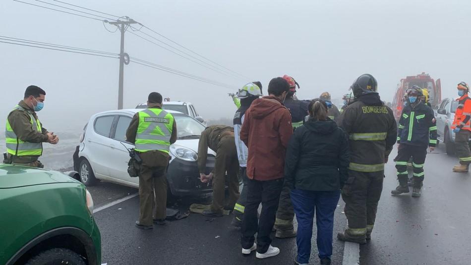 Al menos 7 lesionados en choque múltiple en la Ruta 5 sur en las inmediaciones de Linares