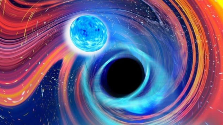 Gigantes galácticos: Captan colisión entre agujero negro y estrella de neutrones
