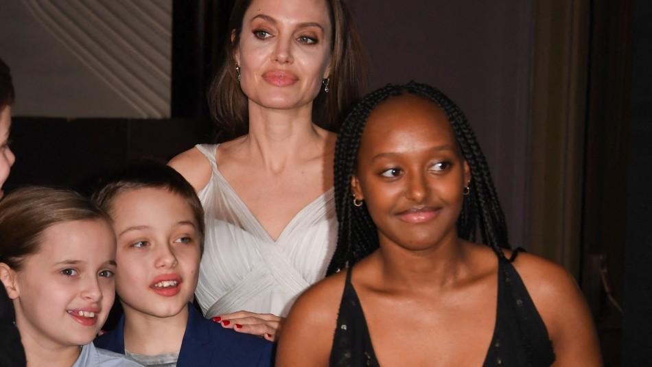 Se lució con un vestido negro: Zahara también sabe cautivar como su madre Angelina Jolie