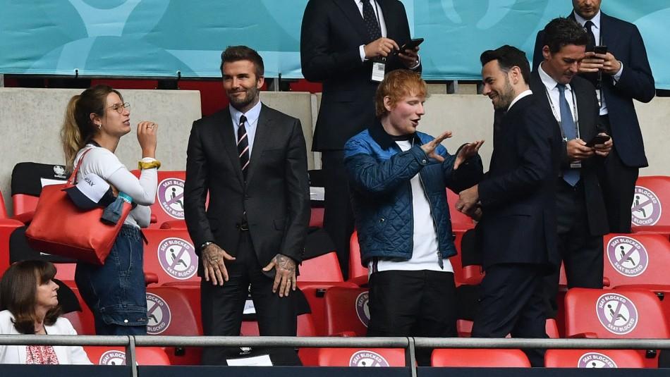 Ed Sheeran y David Beckham dieron la sorpresa en la Eurocopa 2020