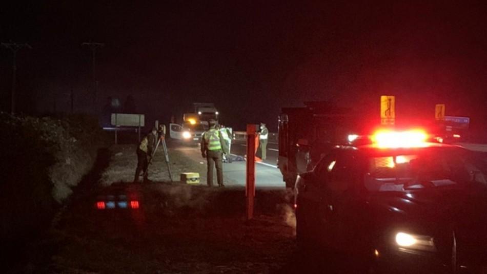 Encuentran cadáver al costado de la ruta cinco sur en Los Ángeles
