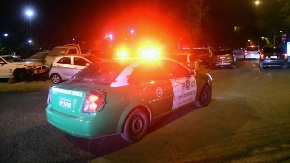 Carabineros detiene a delincuente que asaltaba autos pese a mantener arresto domiciliario total