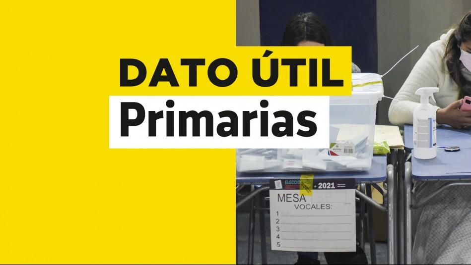 Primarias Presidenciales: Consulta con tu RUT cuál es tu mesa de votación