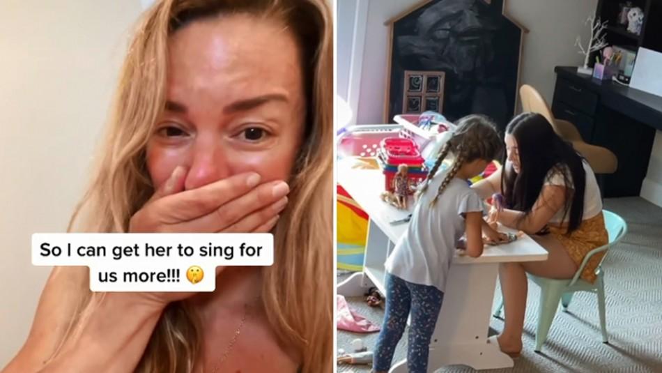 Niñera que canta como una princesa de Disney conmueve a las redes sociales