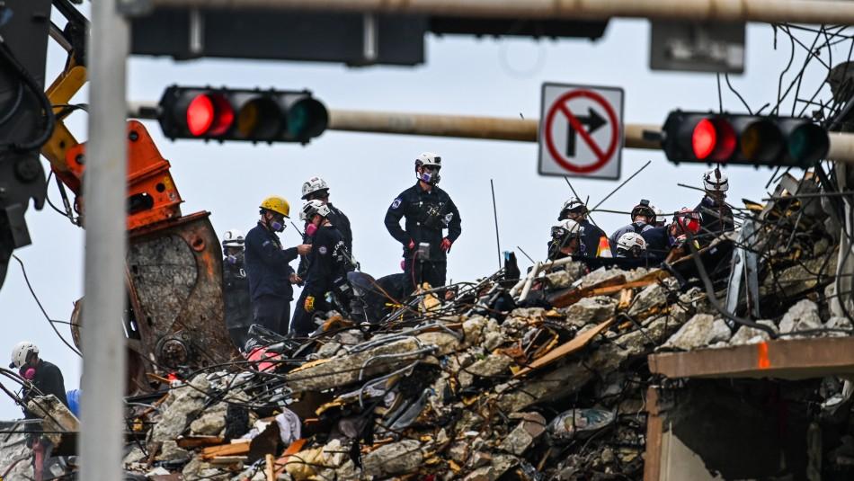 Derrumbe en Miami: rescatista habría encontrado cuerpo de su hija de 7 años entre los escombros