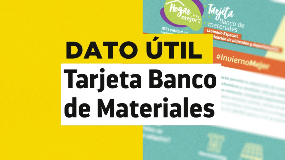 Tarjeta banco de materiales