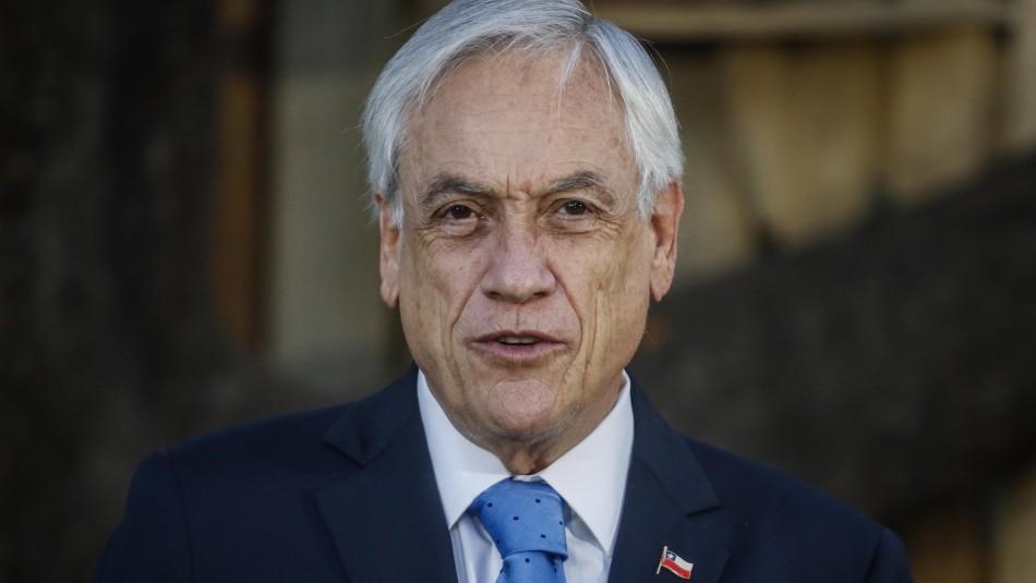 Presidente Piñera pide unidad, diálogo, respeto y paz en la creación de la nueva Constitución