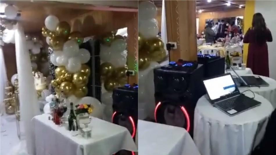 Carabineros sorprende a 18 personas celebrando matrimonio en la comuna de Maipú