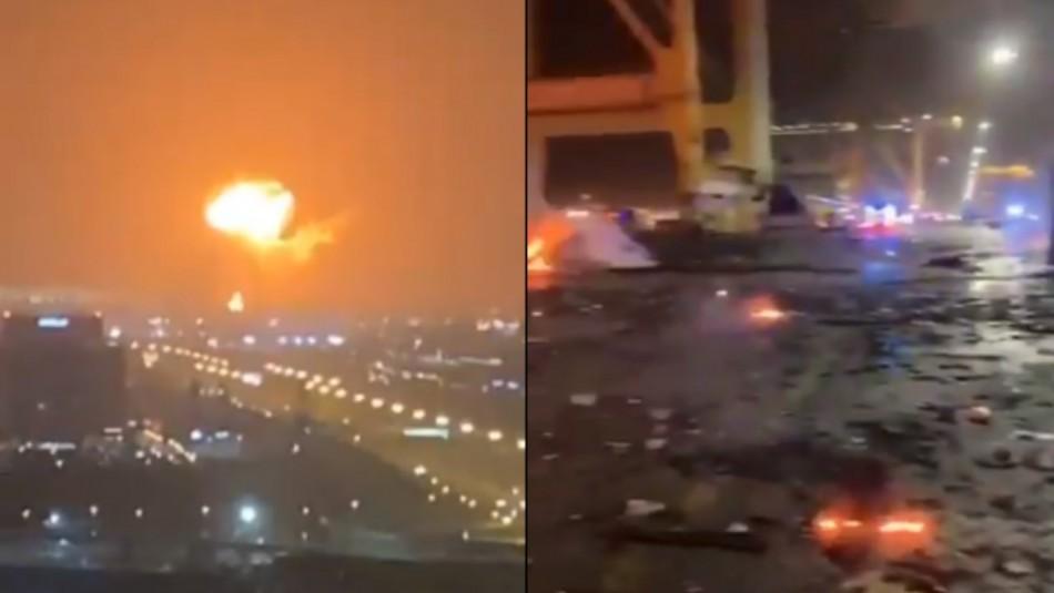 [VIDEOS] Fuerte explosión se registra en puerto de Dubai