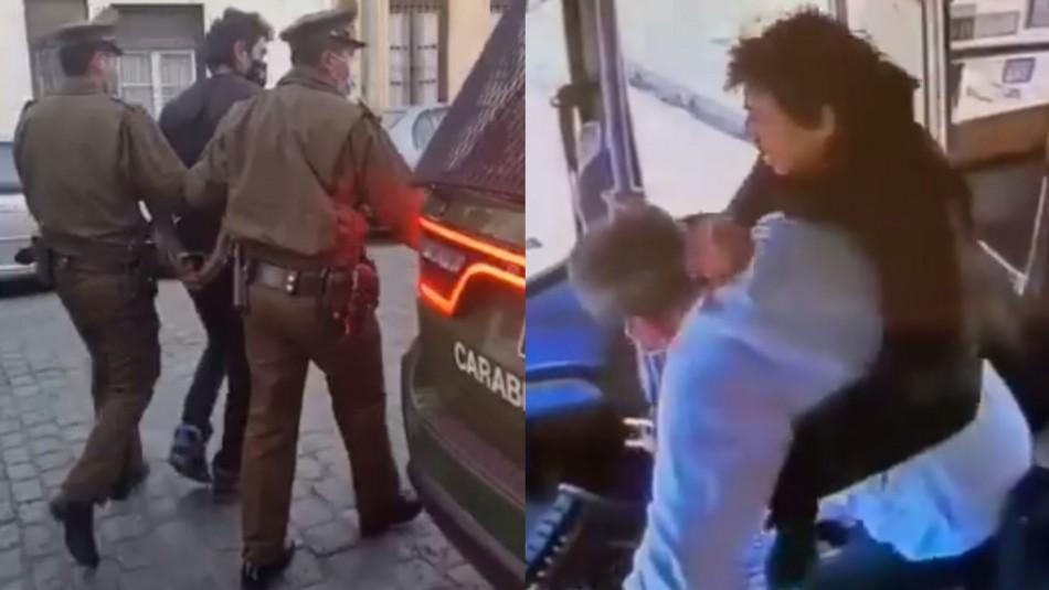 Detienen a presunto agresor de chofer de autobús en Valparaíso