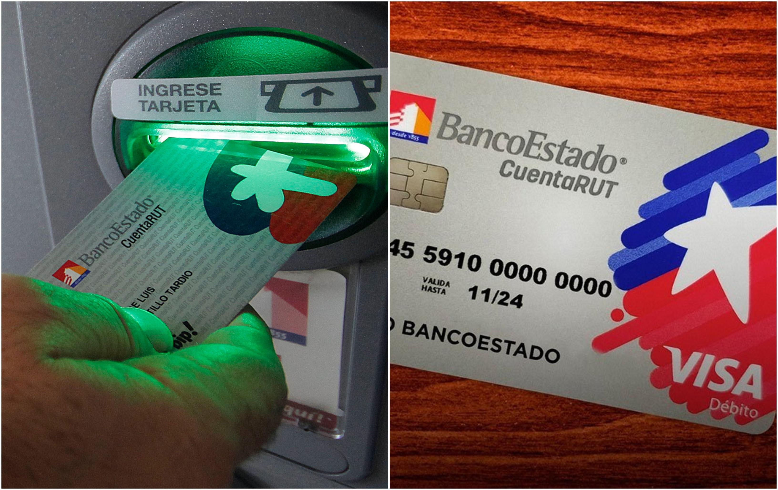 De izquierda a derecha, la antigua y nueva tarjeta Cuenta RUT