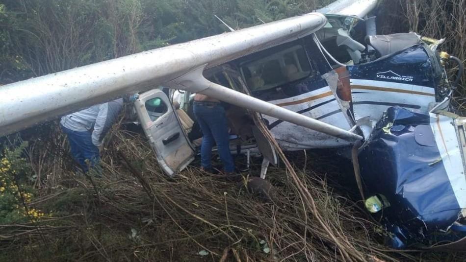 Avioneta proveniente de Isla Mocha cayó en el aeródromo de Tirua