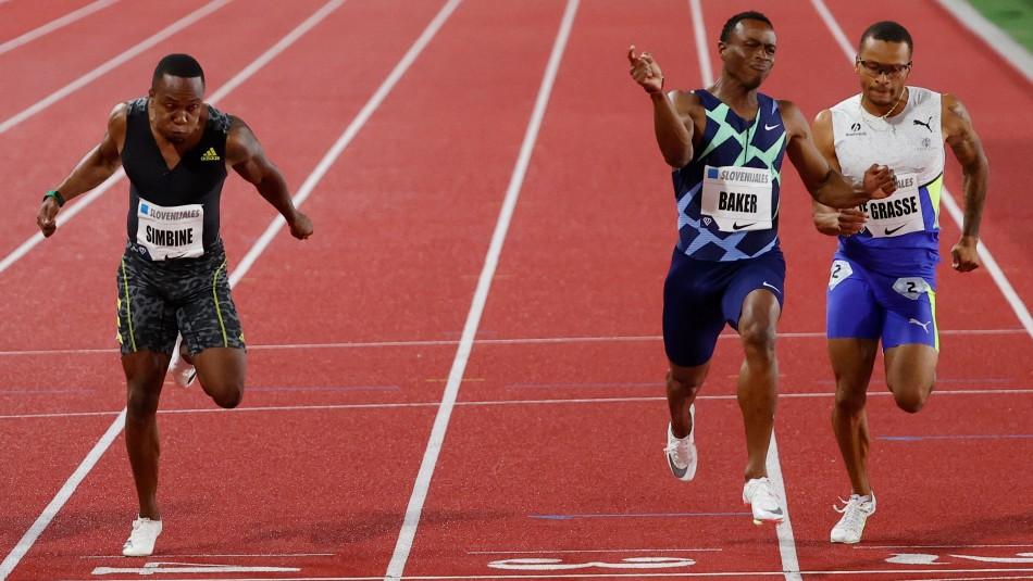 100 metros: Ronnie Baker triunfa en Mónaco a dos semanas de los Juegos Olímpicos de Tokio