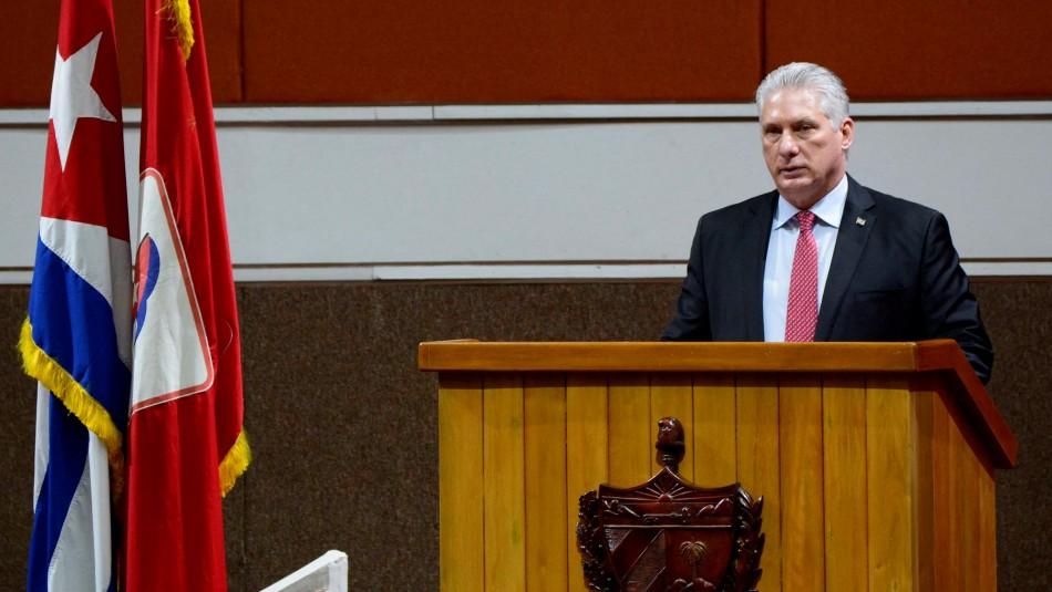 Presidente de Cuba tras protestas por crisis sanitaria: