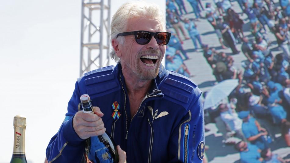 Richard Branson logró su sueño de viajar al espacio: