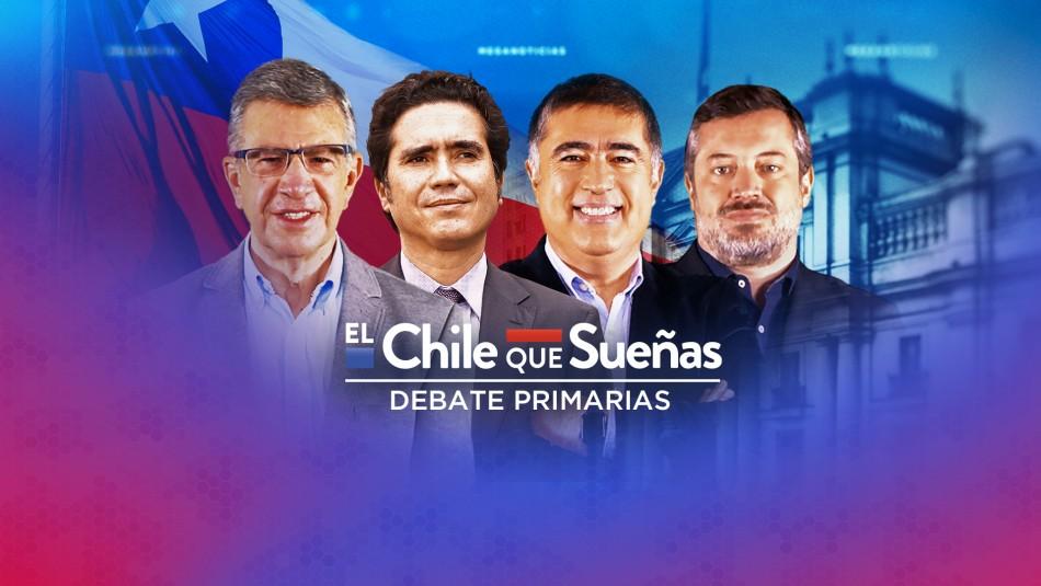 Sigue en vivo el debate entre Lavín, Briones, Sichel y Desbordes