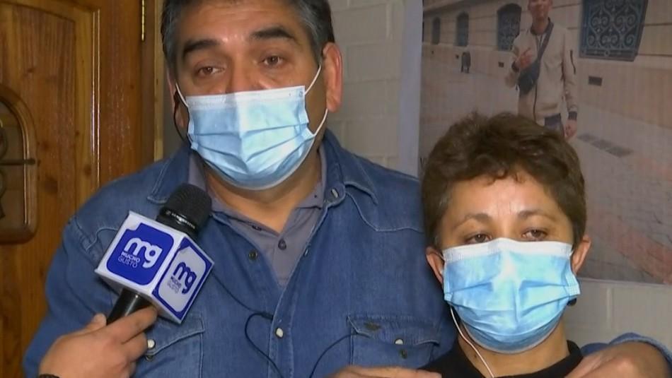 Padres de joven asesinado en comuna de Peñalolén: