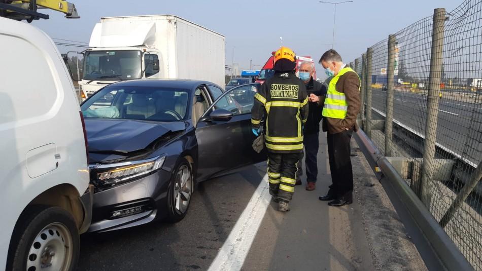 Constituyente Raúl Celis sufre accidente en colisión múltiple en la Ruta 68