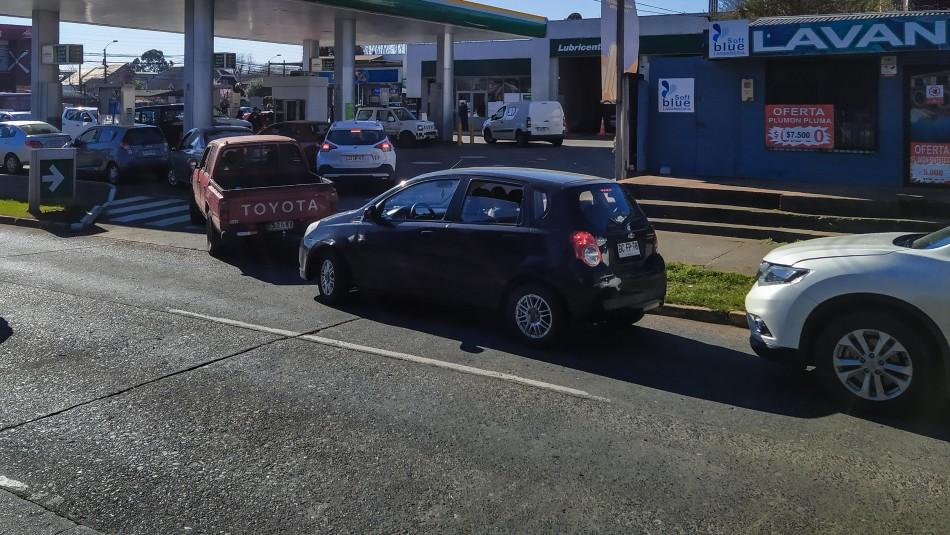 Descartan desabastecimiento de combustible en La Araucanía: Audio generó filas en servicentros