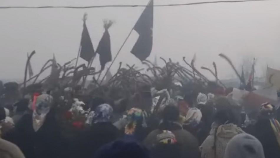 Comienzan primeras ceremonias por funeral del miembro de la CAM fallecido en Carahue