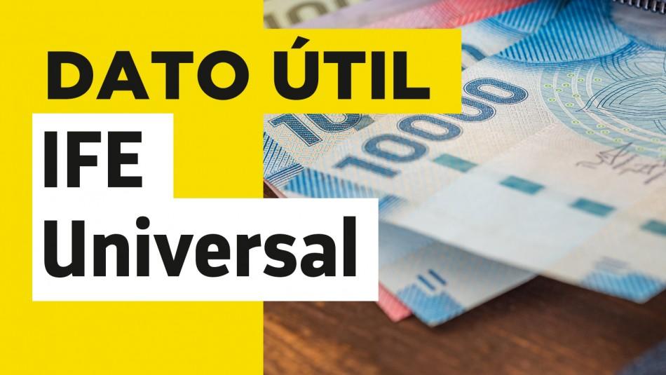 IFE Universal dos pagos en julio