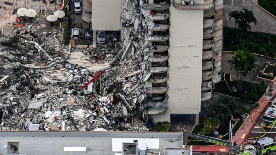 Ascienden a 96 los fallecidos tras el derrumbe del edificio residencial en Miami