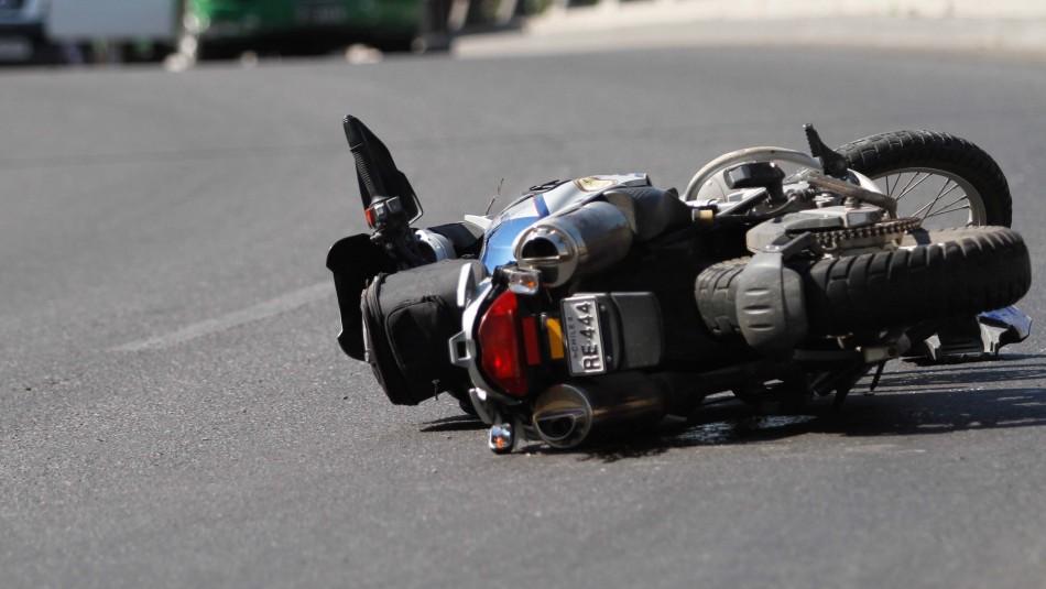 Motociclista muere tras chocar con un bus en Maipú