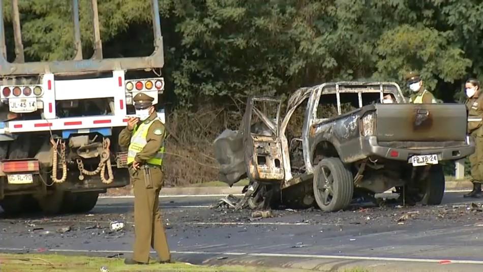 Dos personas mueren calcinadas en accidente ocurrido en Ruta de la Madera