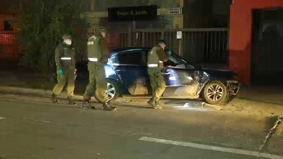 Cuatro carabineros son atropellados por conductor que luego se dio a la fuga en Providencia