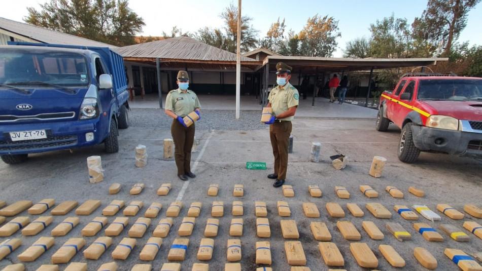Avaluado en más de 15 millones de dólares: Incautan cargamento de droga en frontera con Bolivia