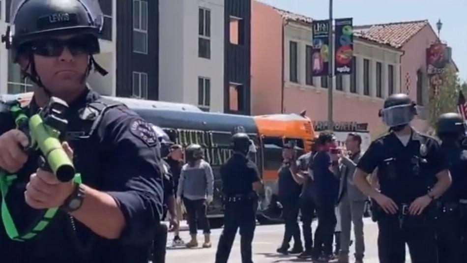 Policía disparó a quemarropa a manifestante en protesta LGBTQ+ en Estados Unidos