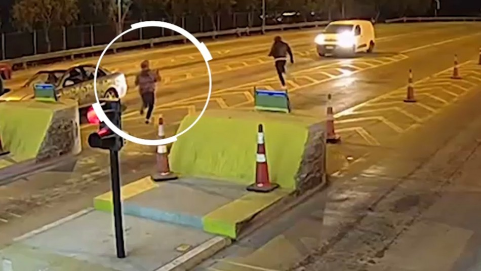 Zapatillas de uno de los delincuentes permitió captura de banda que asaltaba peajes y camiones