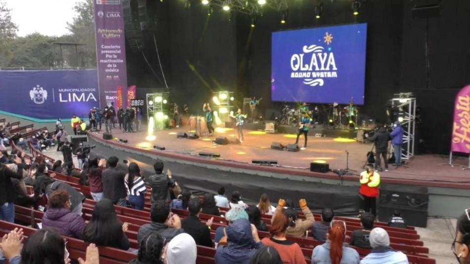 En Perú se llevó a cabo el primer concierto masivo tras la llegada de la pandemia del COVID-19