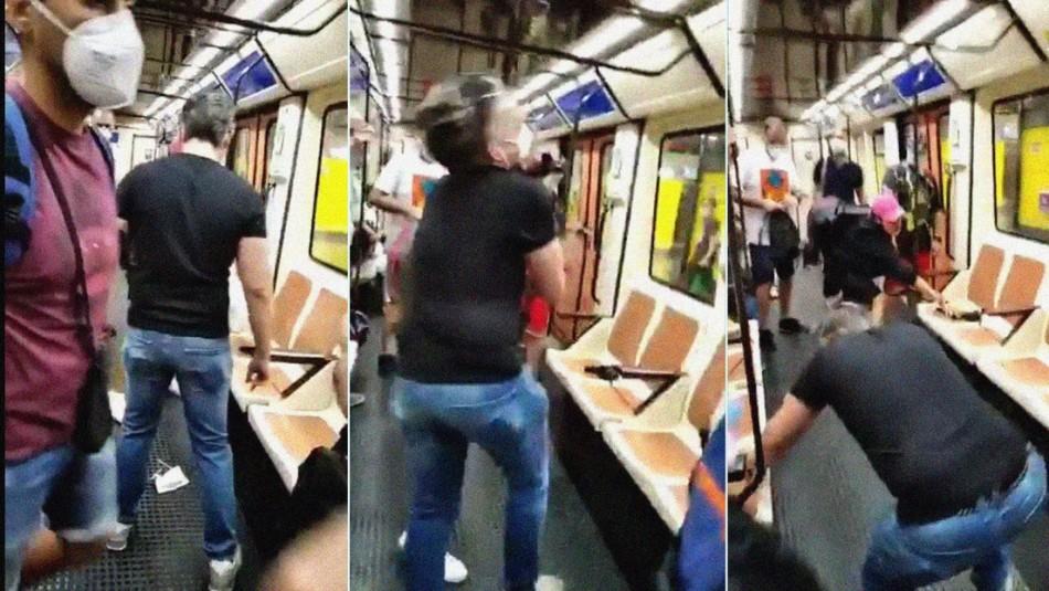 Pierde la visión de un ojo: enfermero es atacado por exigir el uso de mascarilla en el metro