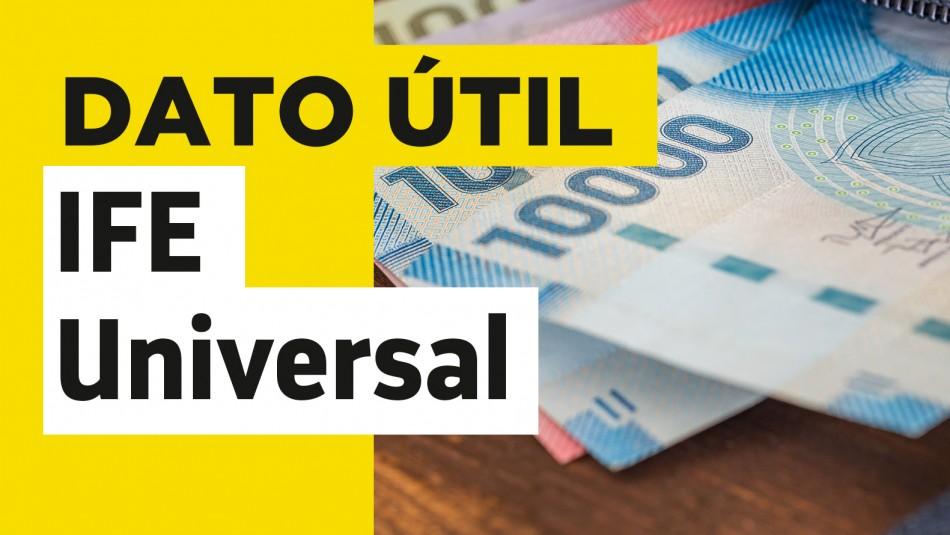 IFE Universal fecha de pago julio 2021