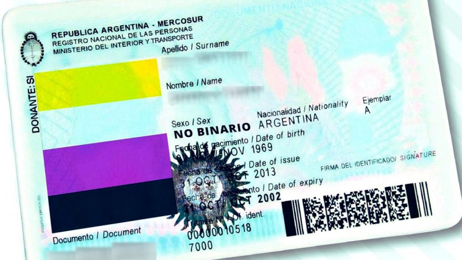 Argentina aprueba documentos de identidad para personas no binarias