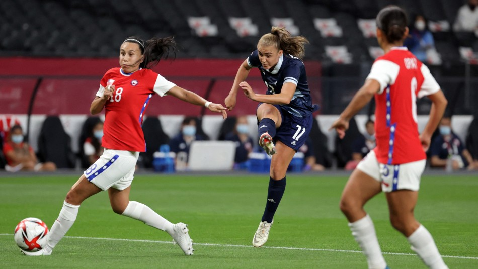La Roja femenina cayó ante Gran Bretaña en Tokio 2020.